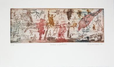 Personas y fantasmas|Obra gráficadeAna Valenciano| Compra arte en Flecha.es