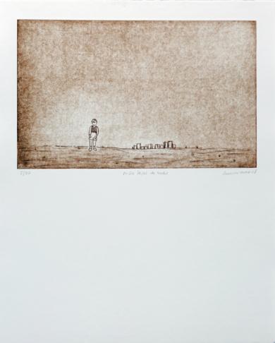 Niño lejos de todo|Obra gráficadeAna Valenciano| Compra arte en Flecha.es