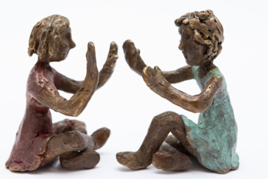 En la ca-lle-lle veinti-cua-tro-tro|EsculturadeAna Valenciano| Compra arte en Flecha.es