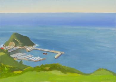 Puerto de Guetaria|PinturadeIgnacio Mateos| Compra arte en Flecha.es