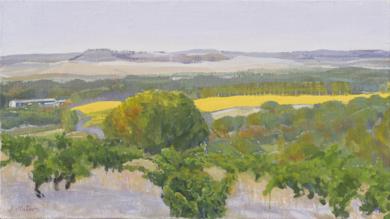 Amarillo, violeta , naranja y verde.|PinturadeIgnacio Mateos| Compra arte en Flecha.es