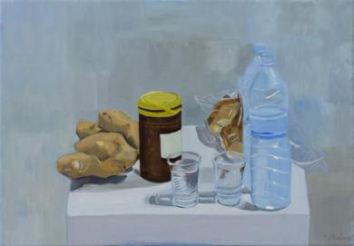 Ocre, amarillo, pardo, azul|PinturadeIgnacio Mateos| Compra arte en Flecha.es