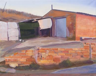 Un ladrillo menos en el Muro|PinturadeIgnacio Mateos| Compra arte en Flecha.es