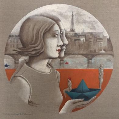 Viajeros|PinturadeMenchu Uroz| Compra arte en Flecha.es