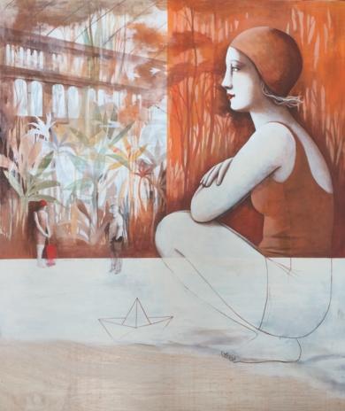 Mirando el tiempo|PinturadeMenchu Uroz| Compra arte en Flecha.es