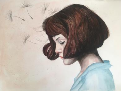 PENSAMIENTOS|PinturadeEVA GONZALEZ MORAN| Compra arte en Flecha.es