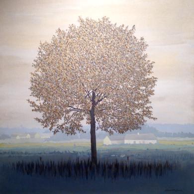 paisaje invernal|PinturadeCharlotte Adde| Compra arte en Flecha.es