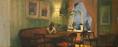 La hora del café|PinturadeOrrite| Compra arte en Flecha.es