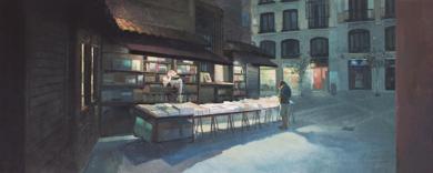 La librería San Ginés|PinturadeOrrite| Compra arte en Flecha.es
