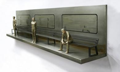 El banco que espera al tren III|EsculturadeMarta Sánchez Luengo| Compra arte en Flecha.es