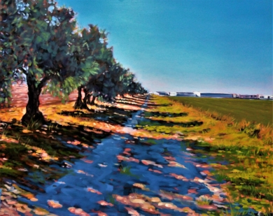 Aún hay caminos en la Vega de Granada|PinturadeFran Jiménez  (Âli Qasim)| Compra arte en Flecha.es