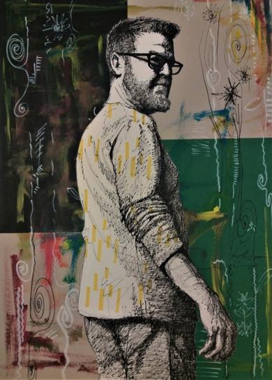 Esos momentos de Apertura (autorretrato)|CollagedeFran Jiménez  (Âli Qasim)| Compra arte en Flecha.es