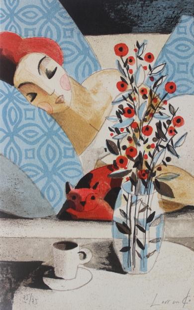 Gato Rojo|Obra gráficadeDidier Lourenço| Compra arte en Flecha.es