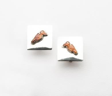 Pendientes de plata 950 y avecitas de Spóndylus|JoyeríadeEster Ventura| Compra arte en Flecha.es