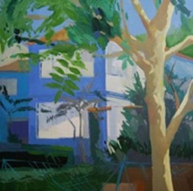"""La casa azul"" PinturadeCarolina Veramendi B  Compra arte en Flecha.es"