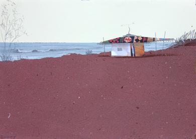Playa roja|CollagedeEduardo Query| Compra arte en Flecha.es