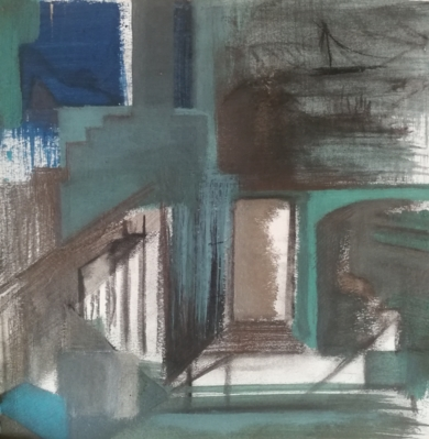 ARQUITECTURA SUMERGIDA|PinturadeVerónica Bustamante Loring| Compra arte en Flecha.es