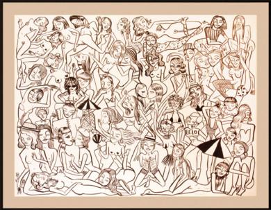 Des gens sympas|DibujodeMiranda Makaroff| Compra arte en Flecha.es