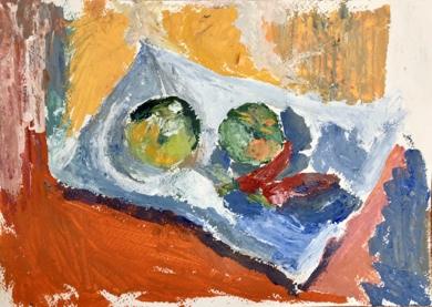 BODEGÓN NARANJA|PinturadeIraide Garitaonandia| Compra arte en Flecha.es