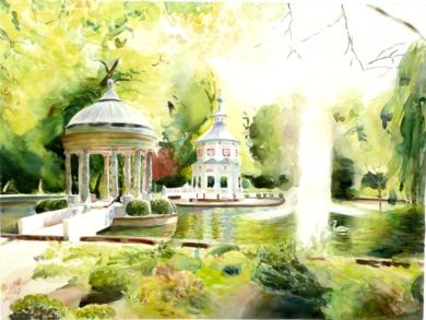 El chinesco en Primavera|PinturadeIgnacio Mateos| Compra arte en Flecha.es