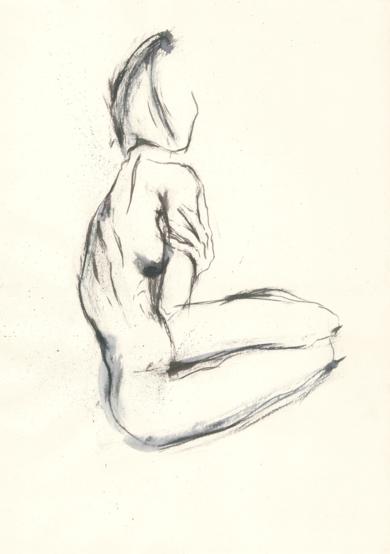 A woman touches herself|IlustracióndeValero| Compra arte en Flecha.es