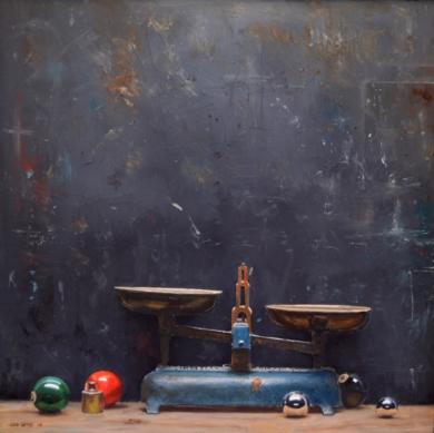 Esfera y Balanza|PinturadeLUIS    GOMEZ    MACPHERSON| Compra arte en Flecha.es