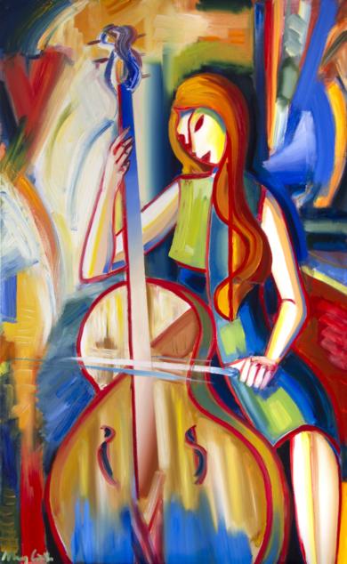 Cellist|PinturadeMaciej Cieśla| Compra arte en Flecha.es