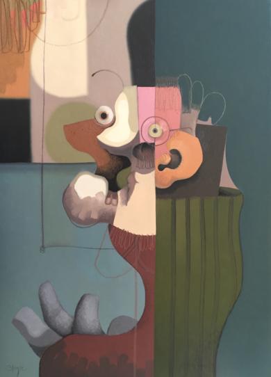 Popper-man|IlustracióndeCarlos Blanco Artero| Compra arte en Flecha.es