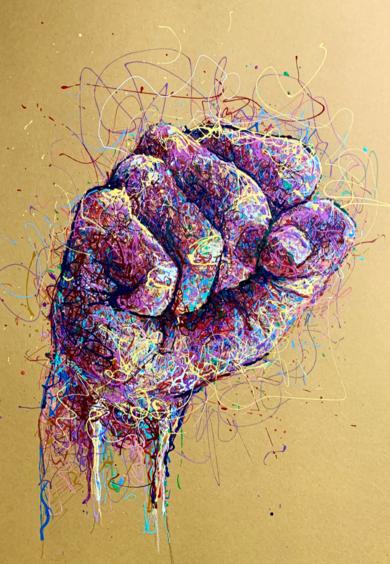 Fist|PinturadeBaon| Compra arte en Flecha.es