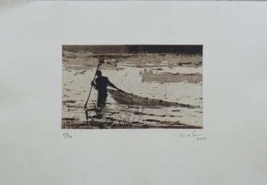 Pescador de Bagamoyo n 2|Obra gráficadeCalo Carratalá| Compra arte en Flecha.es