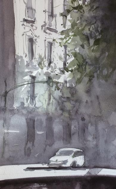 Asfalto. Verano|PinturadeIñigo Lizarraga| Compra arte en Flecha.es