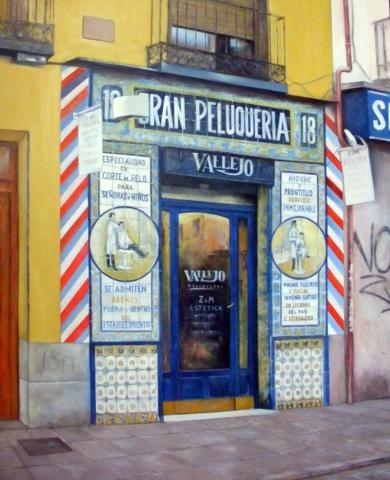 Gran Peluquería Vallejo-Madrid|PinturadeTOMAS CASTAÑO| Compra arte en Flecha.es