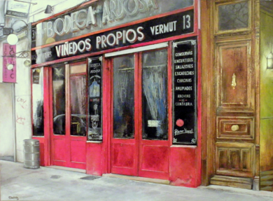 Bodega La Ardosa-Madrid|PinturadeTOMAS CASTAÑO| Compra arte en Flecha.es