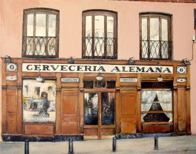 Cervecería Alemana-Madrid|PinturadeTOMAS CASTAÑO| Compra arte en Flecha.es