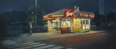 Paseo nocturno|PinturadeOrrite| Compra arte en Flecha.es