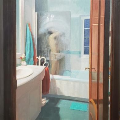 La ducha|PinturadeOrrite| Compra arte en Flecha.es