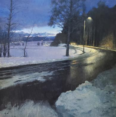 Carretera en invierno|PinturadeOrrite| Compra arte en Flecha.es