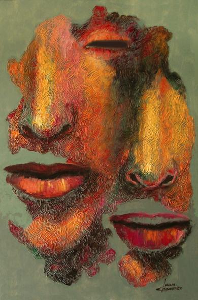 Serie diaspora, Pareja|PinturadeJuan Chamizo| Compra arte en Flecha.es