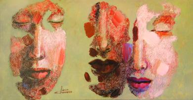 Serie diaspora, Solitario y pareja|PinturadeJuan Chamizo| Compra arte en Flecha.es