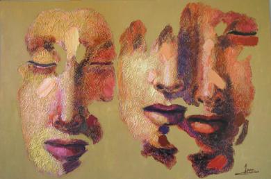 Serie diaspora, Solitario y pareja dos|PinturadeJuan Chamizo| Compra arte en Flecha.es