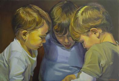 Hermanos|PinturadeIgnacio Mateos| Compra arte en Flecha.es