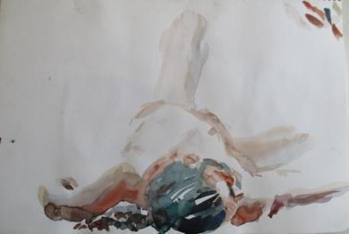 Carlos desnudo|DibujodeAlvaro Sellés| Compra arte en Flecha.es