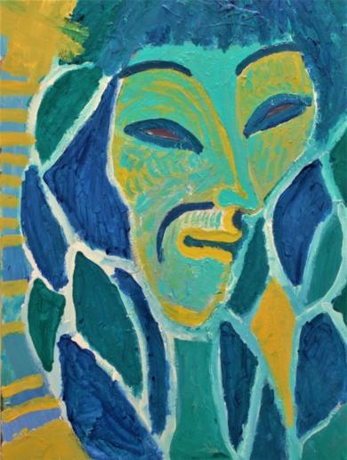 Mujer azul|PinturadeEkhi Huarte| Compra arte en Flecha.es