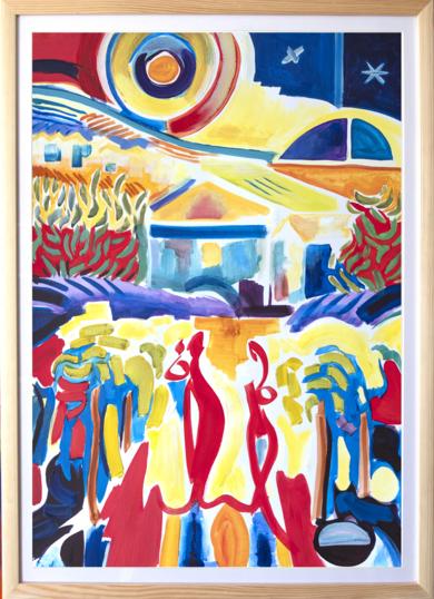 Las mujeres recogen uvas. Expresionismo y abstracción|PinturadeMaciej Cieśla| Compra arte en Flecha.es