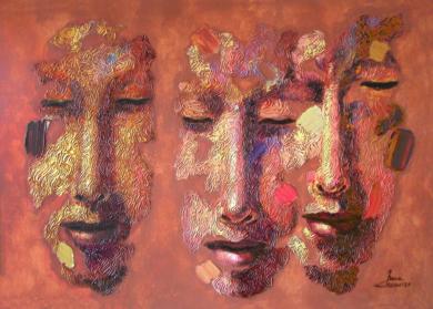 Grupo familiar, serie diaspora|PinturadeJuan Chamizo| Compra arte en Flecha.es