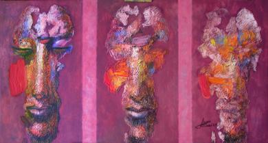 Personaje, serie diaspora|PinturadeJuan Chamizo| Compra arte en Flecha.es