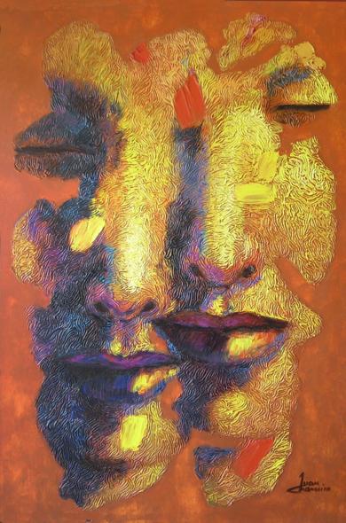 Pareja V, serie diaspora|PinturadeJuan Chamizo| Compra arte en Flecha.es