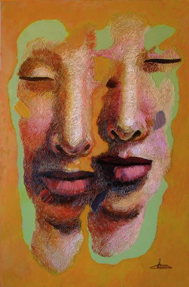 Pareja VI, serie diaspora|PinturadeJuan Chamizo| Compra arte en Flecha.es