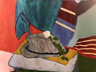 SOMBRERO  GRIS|PinturadeIraide Garitaonandia| Compra arte en Flecha.es
