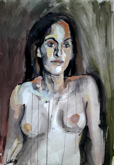Desnudo V|PinturadeFRANCISCO ALARCÓN| Compra arte en Flecha.es